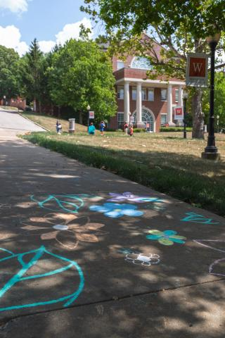 Campus Chalk Art
