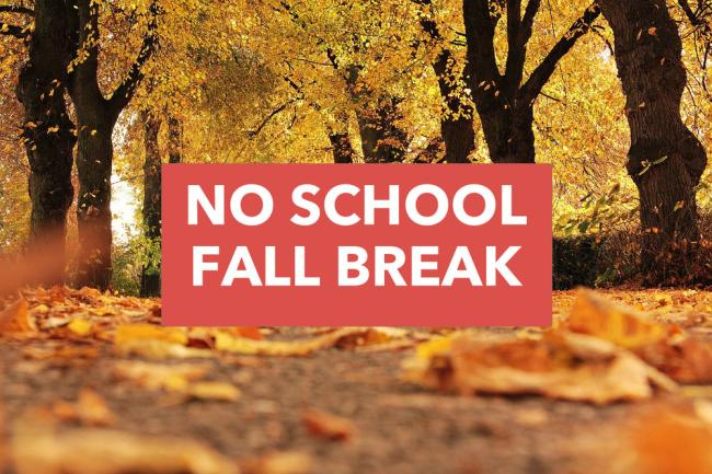 Fall Recess Begins