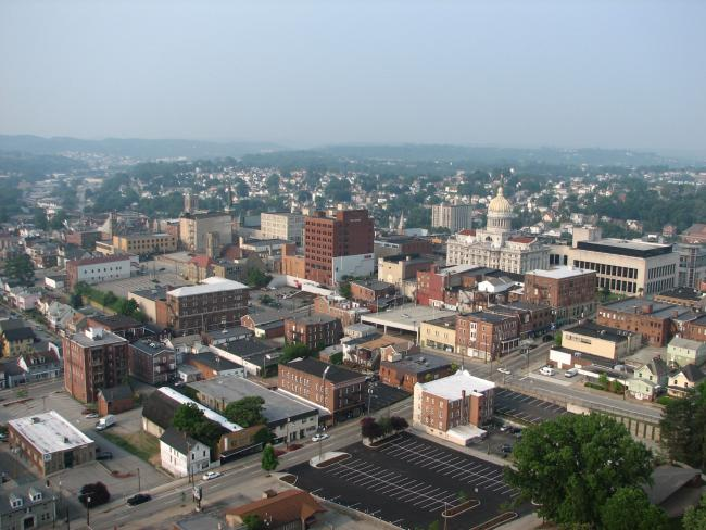 Greensburg, Pennsylvania aerial view