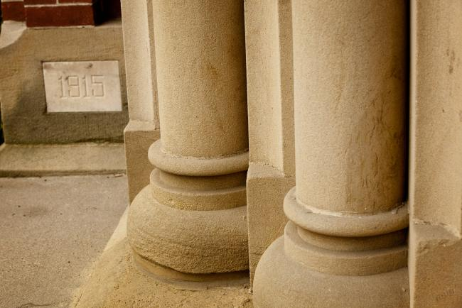 pillars on campus
