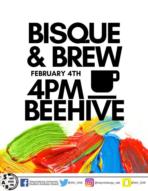 bisque and brew flyer